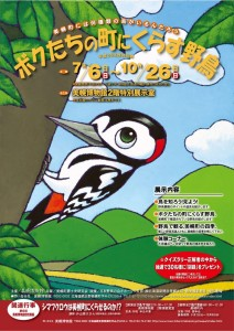 美幌博物館特別展『ボクたちの町にくらす野鳥』ポスター