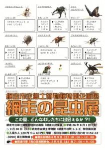 網走市立郷土博物館特別企画展 『網走の昆虫展』