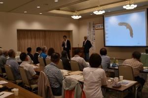 柳生博会長と遠藤孝一新理事長より一言ずつ頂戴しました。