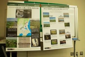 各ブロックや支部などから活動報告等がありました(これは日本野鳥の会茨城県によるハス田の防鳥ネットによるコウノトリの羅網死の報告です)